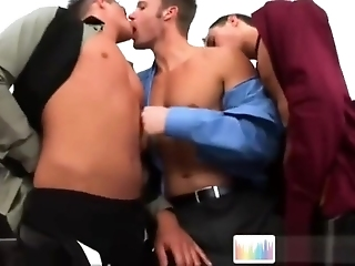 Horny Well-pleased Guys Sucking Unearth Up Ahead Office