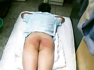 Chinese Little Shaver Spanking